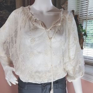 Adiva Lace See Through Blouse